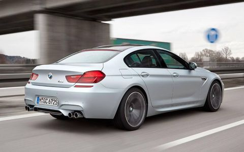 Despite a 4133 curb weight, the BMW M6 Gran Coupe has no trouble reaching dizzying speeds when conditions permit.