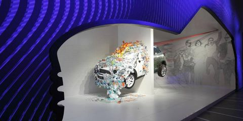 KAPOOW—WOW! // This piece, named MINI KAPOOW, attracts attention at the 2013 Salone Internazionale del Mobile in Milan, Italy. The annual show is the largest furniture fair on earth, showcasing designs from around the world. Photo by BMW Media