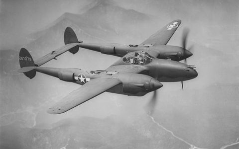 The '48 Caddies took some major styling cues from the P-38 Lightning.
