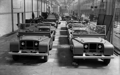Land Rover Series I production began in 1948. The vehicle was supposed to be a stopgap for British automaker Rover, but consumer demand precluded that any thoughts of making production temporary.