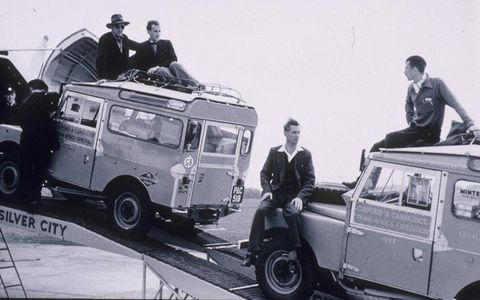 From the start, Land Rovers were tasked carrying the adventurous to all ends of the earth. This pair of Series Is was part of the 1954 Oxford and Cambridge Trans-Africa Expedition.