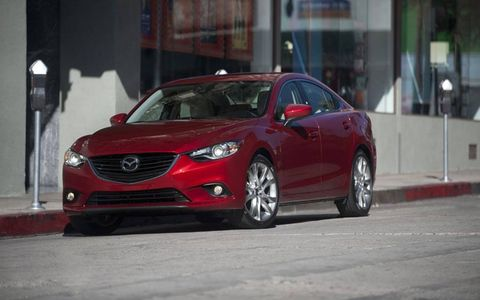 The Mazda 6 sedan gets an estimated 40 mpg on the highway and has a range of 656 miles.