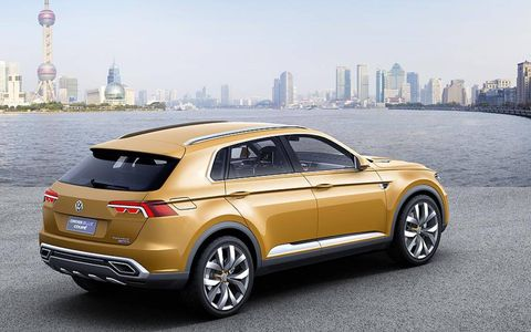The  Volkswagen CrossBlue Concept is based on MQB underpinnings.