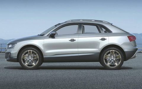 The Crosse Coupe, a small sport/utility vehicle/station wagon, looks like a mini Q7 and is loosely based on the A3 platform (Q3 anyone?). A new 2.0-liter, 204-hp common-rail Bluetec diesel-four powers the all-wheel-drive car, mated to Audi's S-Tronic transmission. The four-seater rides on MacPherson struts in front and a four-link arrangement in the rear.