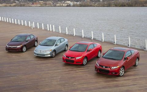 The 2012 Honda Civic Line Up