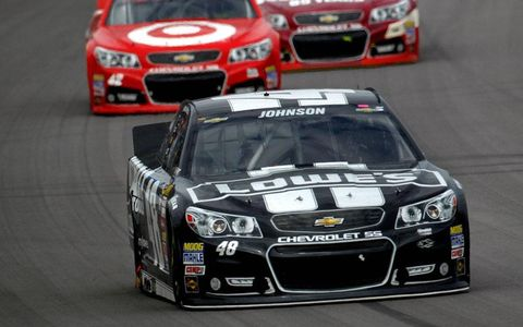 Jimmie Johnson held on to his NASCAR Sprint Cup Series points lead with his third-place finish at Kansas.