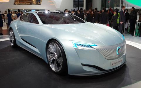 Buick introduced its Riviera coupe concept at the Shanghai motor show.