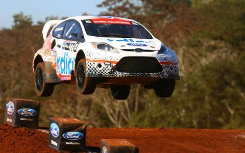 Global RallyCross rookie Scott Speed was the big winner in Brazil as Ford Fiestas swept the three podium positions at X Games Foz do Iguaçu.