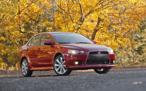 The base 2013 Mitsubishi Lancer GT comes in at $20,790.