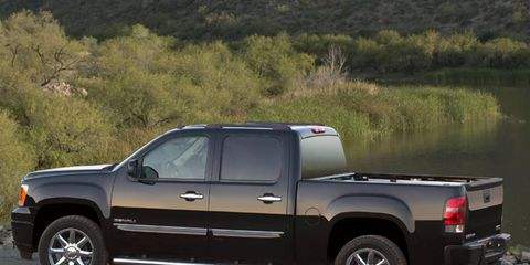 The 2013 GMC Sierra 1500 Denali comes in at a base price of $49,630, and with added options our test model cost $53,694.