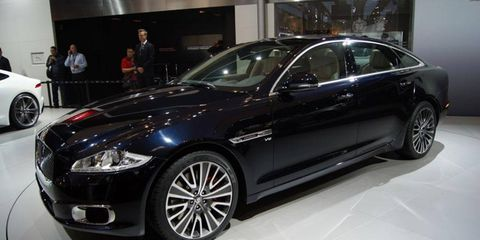 The Jaguar XJ Ultimate introduced at the Beijing motor show.