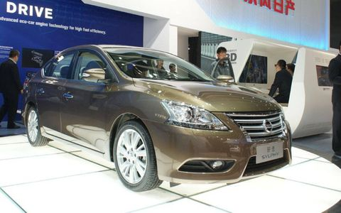 The Nissan Sylphy sedan shown at the Beijing motor show previews the redesigned 2013 Nissan Sentra.