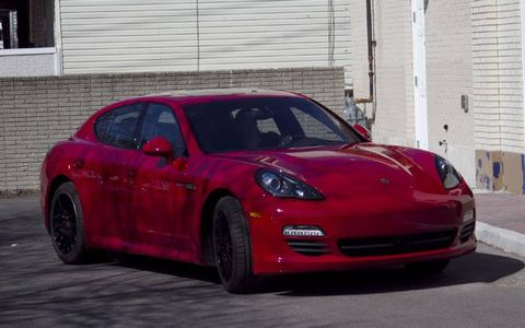 The 2013 Porsche Panamera S Hybrid is equipped with a 3.0-liter supercharged V6 mated with an eight-speed automatic.