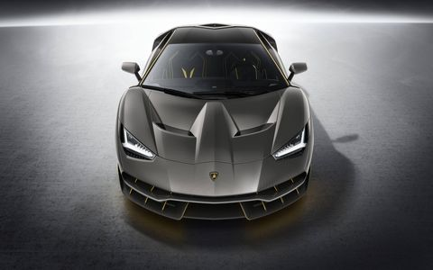 Lamborghini unveiled the V12-powered Centenario at the 2016 Geneva motor show; the car is a tribute to the company's founder, Ferruccio Lamborghini. Just 20 coupes and 20 roadsters will be built.