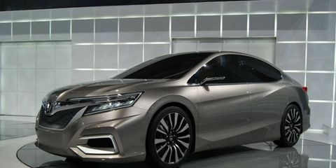 A front view of the Honda Concept C at the Beijing motor show.
