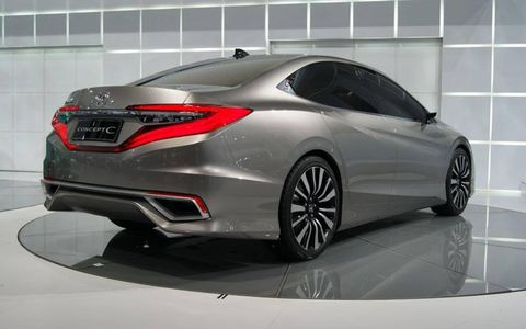 A rear view of the Honda Concept C at the Beijing motor show.