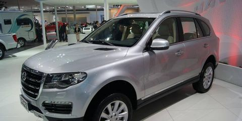 A front view of the Great Wall Havel H7 at the Beijing motor show.
