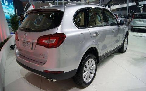 A rear view of the Great Wall Havel H7 at the Beijing motor show.