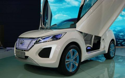 A front view of the Great Wall Havel E-concept at the Beijing motor show.