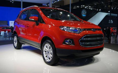 A front view of the Ford EcoSport at the Beijing motor show.