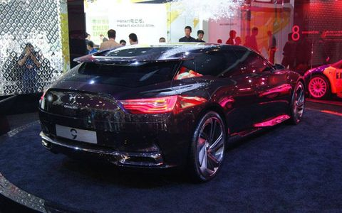 A rear view of the Citroën Numero 9 concept at the Beijing motor show.