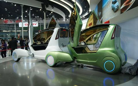 A duo of Chery Ant concepts at the Beijing motor show.