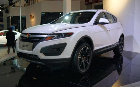 Youngman Lotus introduced the facelifted T5 at the Beijing motor show.
