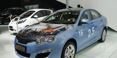 Roewe 550 sedan at the Beijing motor show.