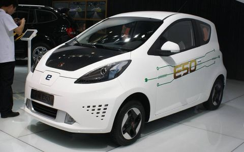Roewe E50 EV at the Beijing motor show.