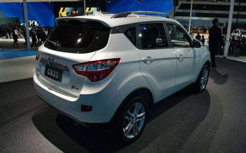 The rear view of the Changan CS35 at the Beijing motor show.