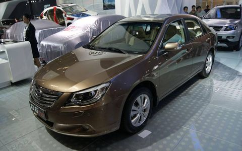 The BYD G6 TID at the Beijing motor show.