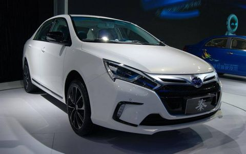 The BYD Qin TID at the Beijing motor show.