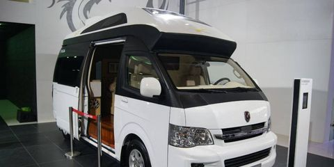 The Brilliance Jinbei large Sea Lion Camper concept at the Beijing motor show.