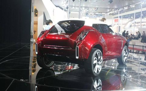A rear view of the MG Icon concept at the Beijing motor show.