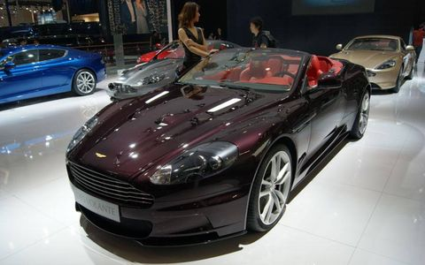 The Aston Martin DBS Volante Dragon 88 Limited Edition at the Beijing motor show.