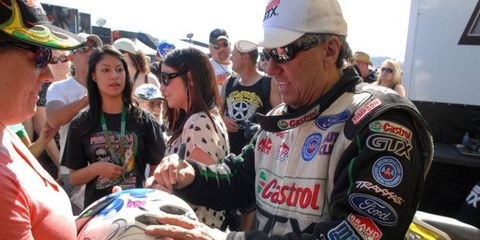 Popular John Force, a 15-time Funny Car champion, has become the face of the NHRA.