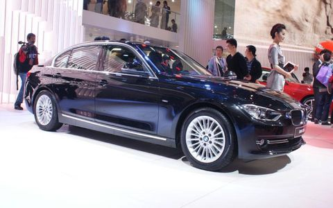 The BMW 328Li is a long-wheel base vehicle introduced at the Beijing motor show.
