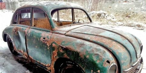 This 1951 Tatra Tatraplan reportedly has a running motor.