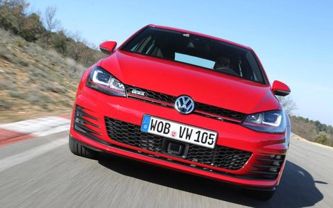 The new 2015 Volkswagen Golf GTI will be available in the spring of 2014.