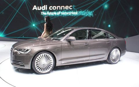 The Audi A6 E-tron at the Beijing motor show.