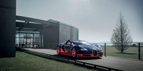 The Bugatti Veyron 16.4 Grand Sport Vitesse.