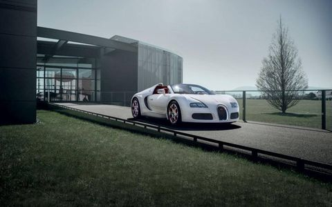"The Bugatti 16.4 Veyron Grand Sport one-off ""Wei Long 2012"" edition."