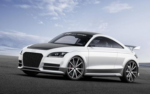 The turbocharged 2.0-liter four-cylinder-powered coupe began life as an internal study into lightweight construction before Audi top brass stepped in and decided to take it public.