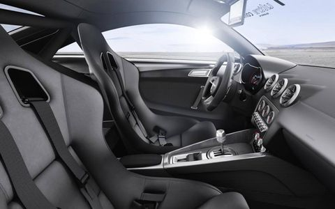 Inside, the new Audi receives carbon-fiber door and center console trims.