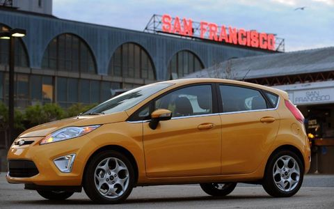 Fiesta's 30 mpg city/40 mpg highway mileage and $13,995 starting sticker make it steal for college-age kids.
