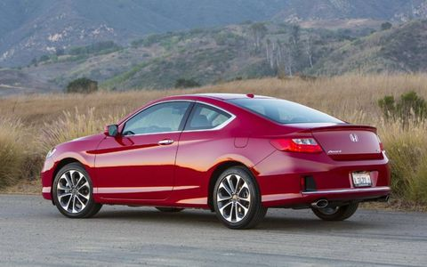 The 2013 Honda Accord EX-L coupe.