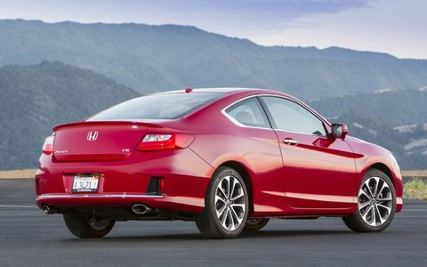 The 2013 Honda Accord EX-L coupe V6.