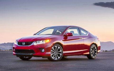The 2013 Honda Accord EX-L coupe is available with a 2.4-liter inline four-cylinder or a 3.5-liter V6.