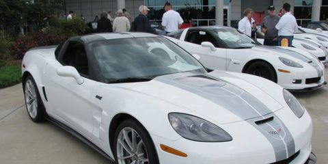 The 2013 Chevrolet Corvette ZR1 with the 60th anniversary package.