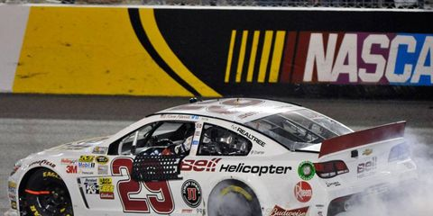 Kevin Harvick won the NASCAR Sprint Cup Series race at Richmond on Saturday night.